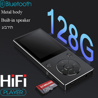 2018 New HIFI music lossless MP4player with Bluetooth 2.4 HD screen built in speaker 16G MP4 music player SD card up to 128g