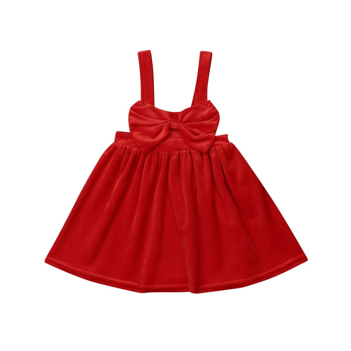1-6y Weihnachten Kid Baby Mädchen Rot Samt Kleid Prinzessin Großen Bogen Tutu Insgesamt Dresss Party Hochzeit Kleid Für Mädchen
