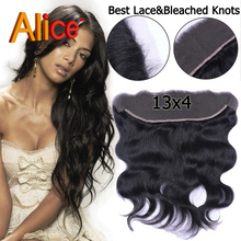 Alice Ear To Ear Lace Frontal Closure 13X4 Brazilian Virgin Hair Lace Frontal Body Wave Cheap Frontal Closures With Baby Hair