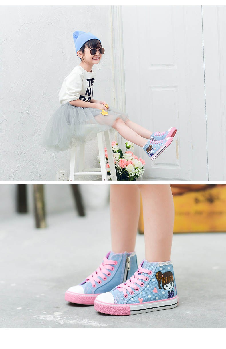 2017 New Arrival Children Canvas Girls Shoes For Kids Lace Up Sepatu Anak Bfirst Nova 3016008 Photos List
