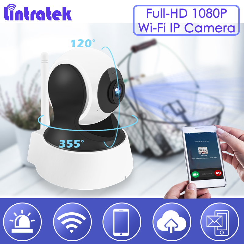 Lintratek Full-HD 1080P Wifi Surveillance Wireless Security Camera 2.0MP Home Pet Monitoring Night Vision Baby Monitor Nanny S29 yobangsecurity 960p wifi wireless security camera for baby elder pet nanny monitor with night vision