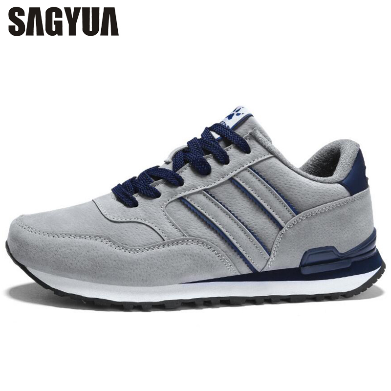SAGYUA Travels Trendy Male Men Fashion Casual Hombre Comfort Walk Walks Leisure Shoelace Flat Board Zapatos Shoes Chaussure T315