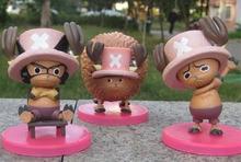 3pcs/lot/set Action Figure ONE PIECE Tony Tony Chopper anime PVC Toys model free shipping