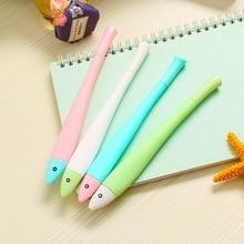Милый мультфильм, Корея в форме рыбы гелевая ручка простая креативная карамельный цвет гелевая ручка 0,5 углеродная черная ручка