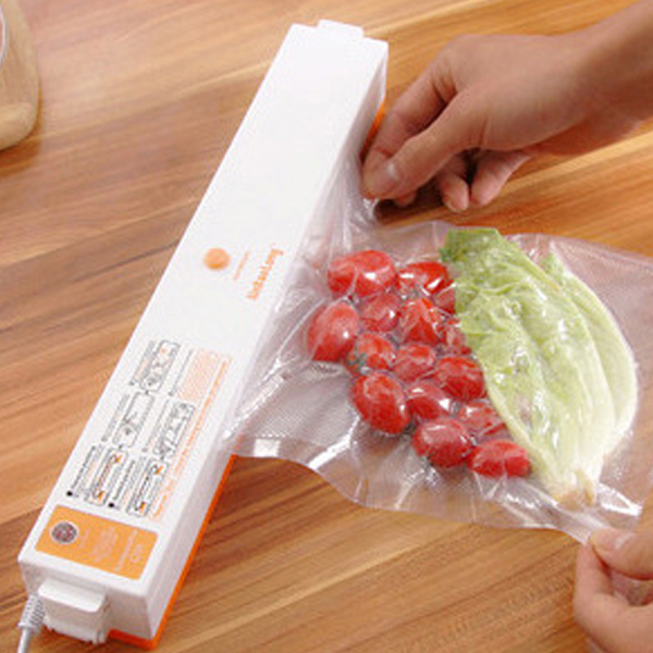 2016 New Household Food Vacuum Sealer Packaging Machine Automatic Electric Film Food Sealer Vacuum Packer Including 15Pcs Bags sf 270 220v household food vacuum sealer packaging machine film sealer vacuum packer 300w manual sealing machine