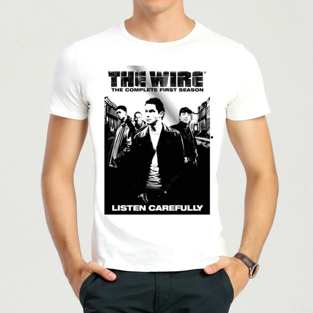 The Wire T Shirt White Fashion Short Sleeve Mens The Wire Logo T ...