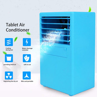 9.5 Inch Mini Portable Table Air Conditioner Small Office Bladeless Fan Humidifier Quiet Personal Moisturizing Air Cooler