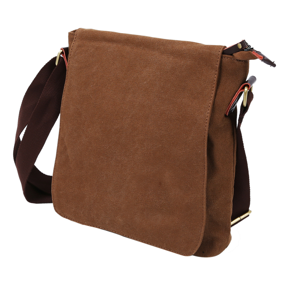 Mens Handbag Shoulder Bag Adjustable shoulder strap Canvas Coffee