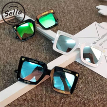 Sella New Arrival Fashion Kids Oversized Square Sunglasses B