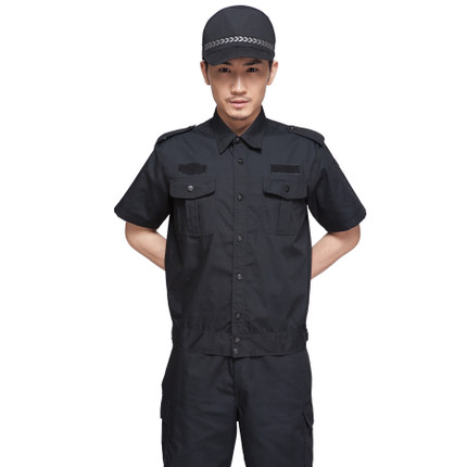47657a8246d85 2018 new short sleeve mens security uniforms sets summer S 4XL plus size  black security companies clothing security set-in Military from Novelty    Special ...