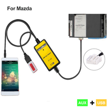 2017 New Car USB AUX Adapter Machine Change for Mazda 2 3 5 6 MX-5 RX-8 radio MPV Interface Car Kit MP3 Music CD Player