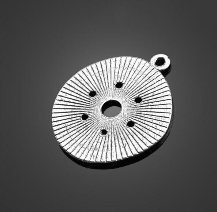 웃 유100 unids plata antigua único Amuletos colgante DIY collar de ...