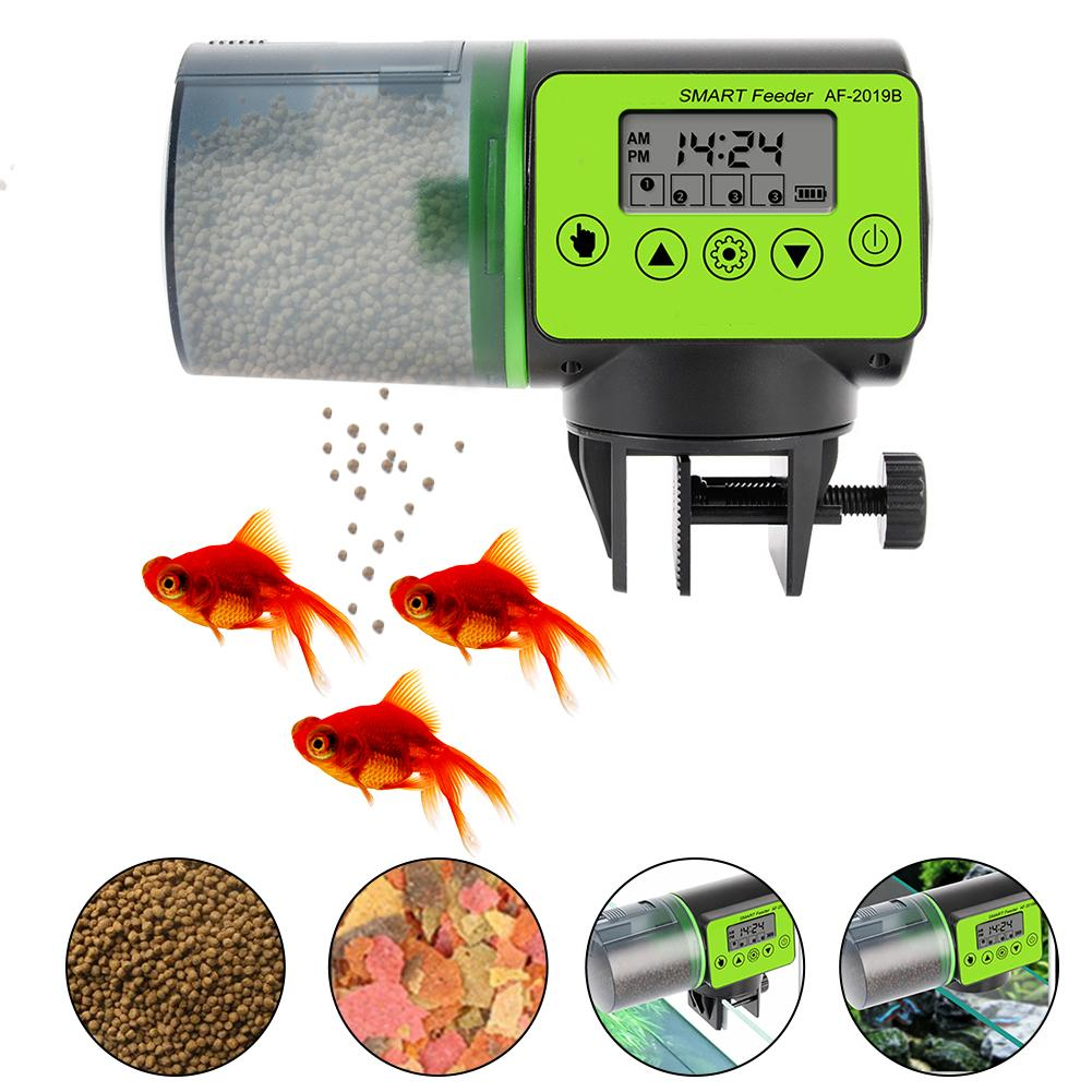 200ml Automatic Fish Feeder For Aquarium Fish Tank Auto Feeders With Timer Pet Feeding Dispenser LCD Indicates Fish Feeder image
