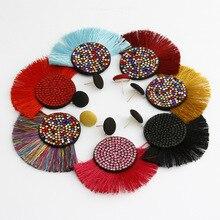 Bohemian Tassel Earrings 9 Color Crystal Long for Women jewelry Geometric 2019 018