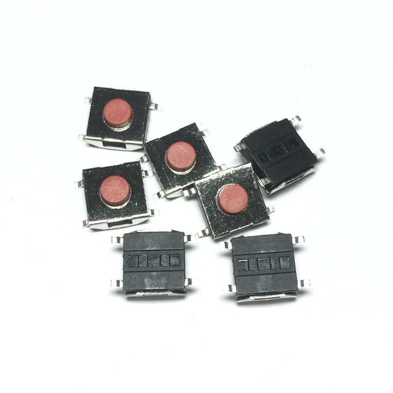 100PCS/LOT 6*6*3.1 SMD Momentary Tact Tactile Push Button Switch 4pins Waterproof Copper red head 6x6x3.1 LCD Monitor Switch