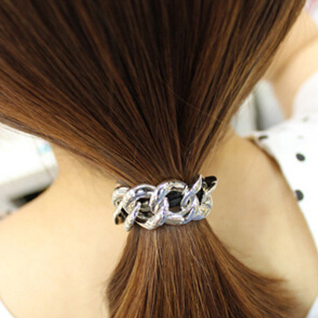 Gold Silver Plated Elastic Hair Band