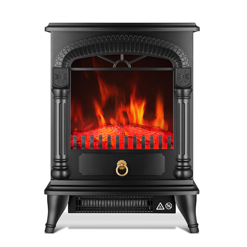 220 V  Europe Type 3 D Simulation Fire Electric Fireplace Heater Vertical Heater's Household Electric Heater To Office