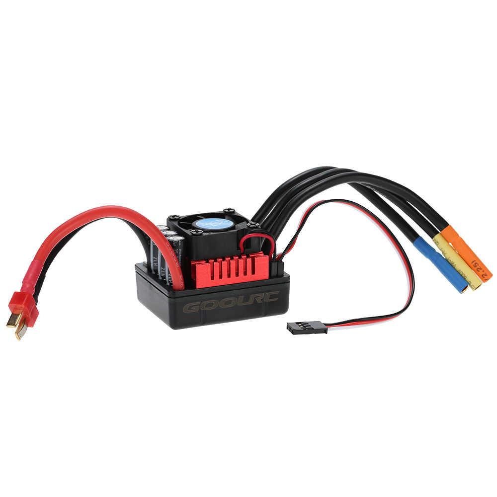 Controlador de velocidad eléctrico GoolRC S-120A S-80A sin escobillas ESC con 6,1 V/3A SBEC para 1/8 piezas de coche RC