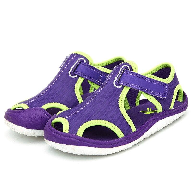 2018 новые летние босоножки принцессы детская обувь на плоской подошве для девочек с закрытым носком сандалии обувь малыша мальчиков удобные... ...