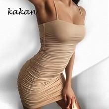Kakan summer new hot womens dress sexy sling pleat pack hip night shop