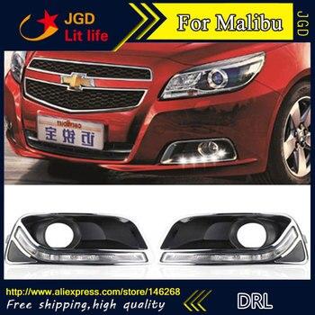 Free shipping ! 12V 6000k LED DRL Daytime running light for Chevrolet Malibu 2011-2013 fog lamp frame Fog light