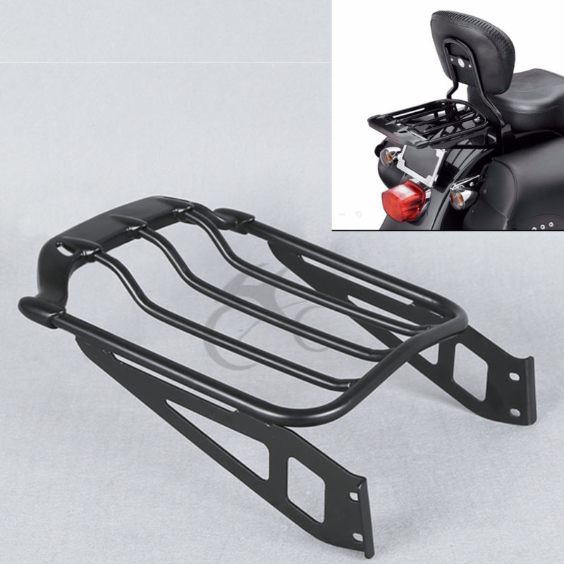 Air Wing Two-Up Luggage Rack For Harley FXST FXSTB FLSTF FLSTFB FLSTFBS Softail Springer Cross Bones FLSTSB Fat Boy rear pillion passenger seat fits fits for harley davidson flstsb softail cross bones 2008 2011