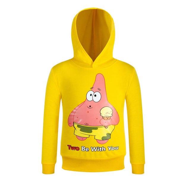 Patrick Cartoons digital printing children spring models hoodies boy and girl sweatshirt coat