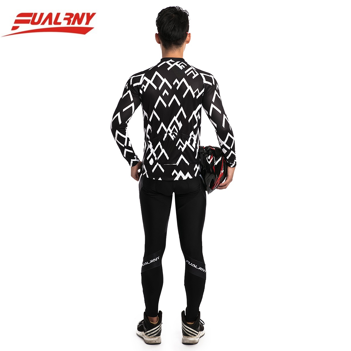 2018 Team FUALRNY Long sleeve Ropa Ciclismo Cycling Jersey sets Mountian Bicycle Clothing/MTB Bike Clothes For Man White stripe