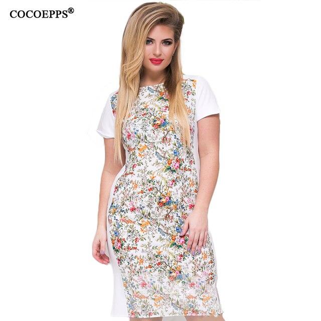 Летние винтажные 5XL 6XL Большие размеры женские Цветочный принт платья 2017 Femme элегантные офисные вечернее платье Большие Размеры платье
