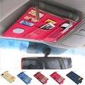 Multi funcionar automobile placa sol shading carro clipe de armazenamento saco pendurado arranjo notas e de armazenamento de detritos veículo # LY941