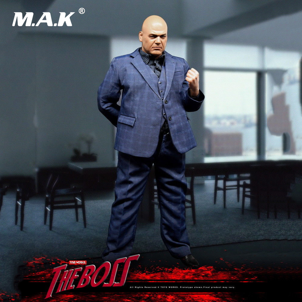 1:6 Scale Full Set Man Action Figure Body The Boss Gang Leader Kingpin Wilson Fisk Model Toys for Birthday Gift Collection zh005 1 6 scale knights of malta ancient medieval action figure soldier type 12 figure body for collection gift