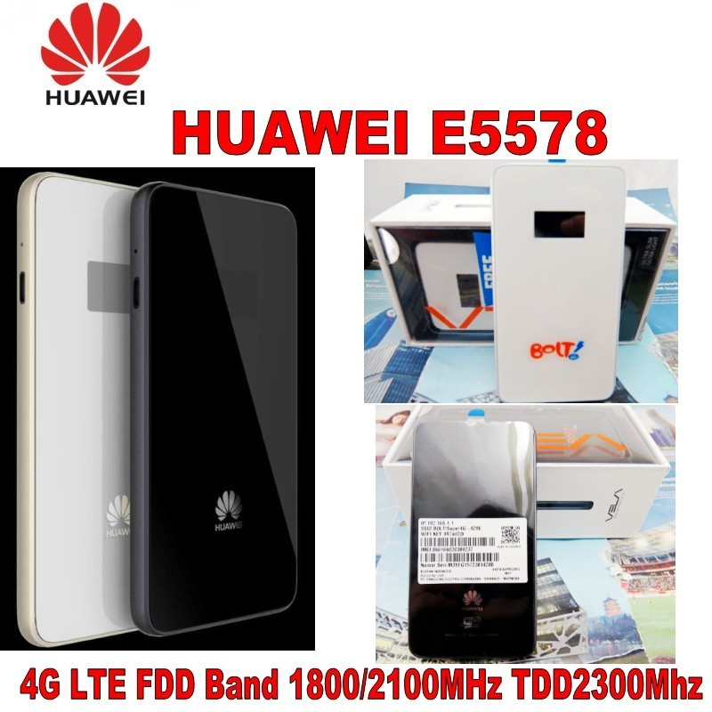 Huawei E5578 LTE Mobile WiFi Modem Router 4G LTE FDD 1800/2100Mhz TDD 2300Mhz original unlocked huawei e3372 m150 2 lte fdd 150mbps 4g lte modem support lte fdd 800 900 1800 2100 4g crc9 49dbi dual antenna