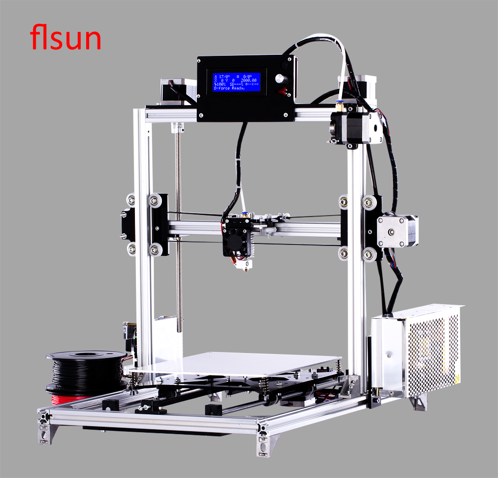 2016 New 3d Color Printer Kits Large Size 3dprinter With Filament 2GB SD Card full metal frame heated bed 3d printer professional 3d color printer with 2gb sd card lcd 40m filament for free