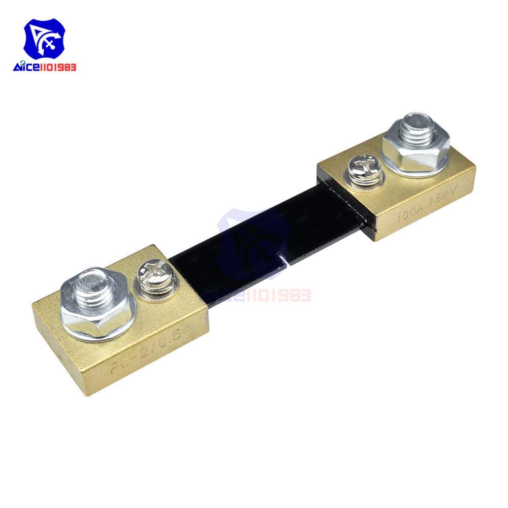 hight resolution of external shunt fl 2 100a 75mv current amp meter ammeter ampere panel meter shunt