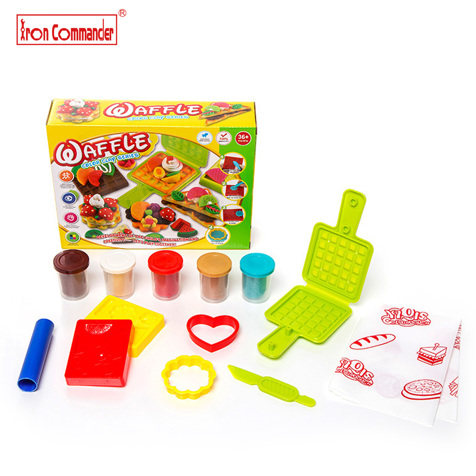 How to make clay toys use various shaping tools to - Iron Commander 5 Colors Sandwich Cookie Playdough Creative Polymer Clay With Mold Tool Kid Play Dough Diy Kids Toys Gift 5808cb