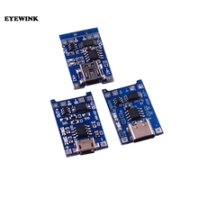 100 шт. TP4056 TC4056 type-c/Micro/Mini USB 5 В 1A 18650 модуль зарядного устройства литиевой батареи зарядная плата двойной функции li-ion