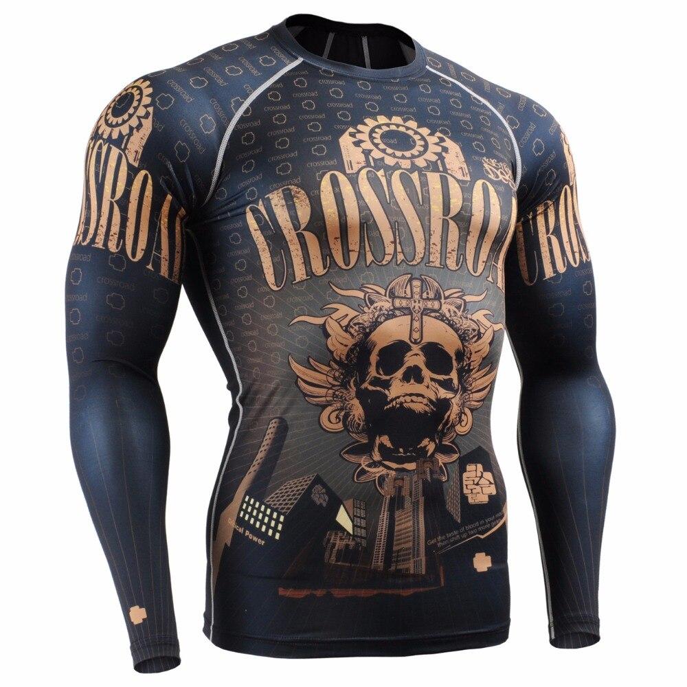 Мужские компрессионные рубашки LIFE ON TRACK с длинным рукавом для бега, гибкие рубашки для тренировок, многофункциональные футболки MMA для занят...