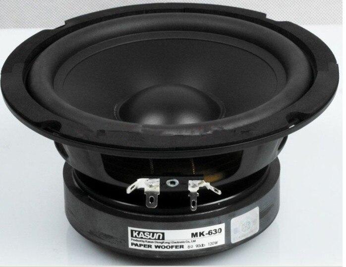 1pcs HI fi Series paper woofer loudspeaker woofer speakers MK 630 speakers 6 5 inch 120W