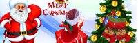 рождественский подарок украшения силиконовые стеклянные наклейки с большой окно дверь стена стикер рождественское украшение для домашнего декора
