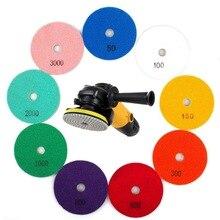 1 шт алмазные диски для полировки 3/4 дюйма в переменного тока, 50-3000 Грит мокрый/сухой алмазный Полировочный диск колодки шлифовальные диски для Гранит для полировки камня