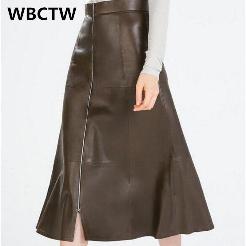 2017 Skirts womens with zippered skirts Plus size/6XL 7XL 5XL Runway High waist skirt