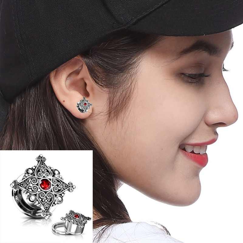 נירוסטה גלגלת מצפן פירסינג התרחבות אוזן עגילי נשים מתנות Expander אופנה פירסינג גוף תכשיטים