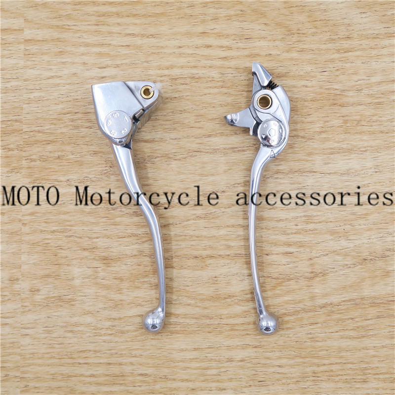 1 pair Motorcycle Brake Clutch Handle Levers For Kawasaki ER6N ER6F 2016-2017 polishing Handle Levers 1 pair chrome flame shape motorcycle clutch brake hand levers for kawasaki zx 6r 2000 2004 billet aluminum motorbike brake parts