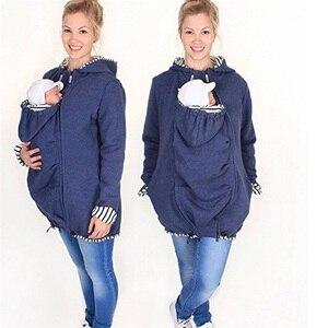 Mulheres Grávidas YUNJINYIYI multi-função saco de algodão quente mulheres grávidas roupas colete colete jaqueta casaco de moletom canguru