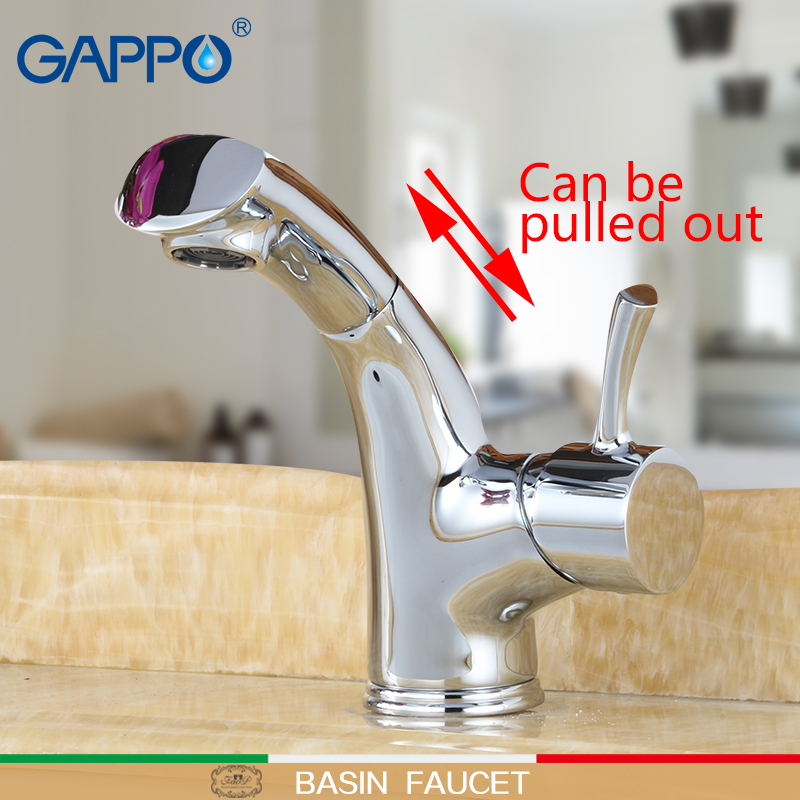 GAPPO basin Faucets pull out faucet basin mixer bathroom faucets torneira mixer waterfall taps sink antique