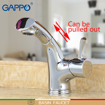 GAPPO basin Faucets pull out faucet basin mixer bathroom faucets torneira mixer waterfall taps sink antique waterfall tap
