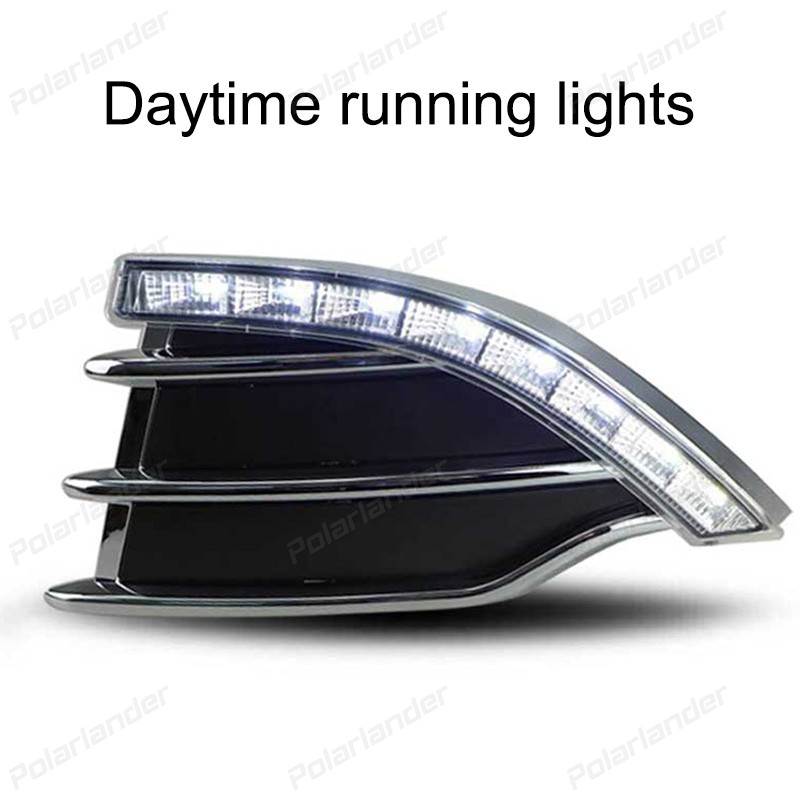 2017 new arrival auto lamps For F/ord k/uga Or E/scape 2013-2015 car styling daytime running lights boomboost 2 pcs car accessory daytime running lights for f ord k uga or e scape 2013 2015 car styling