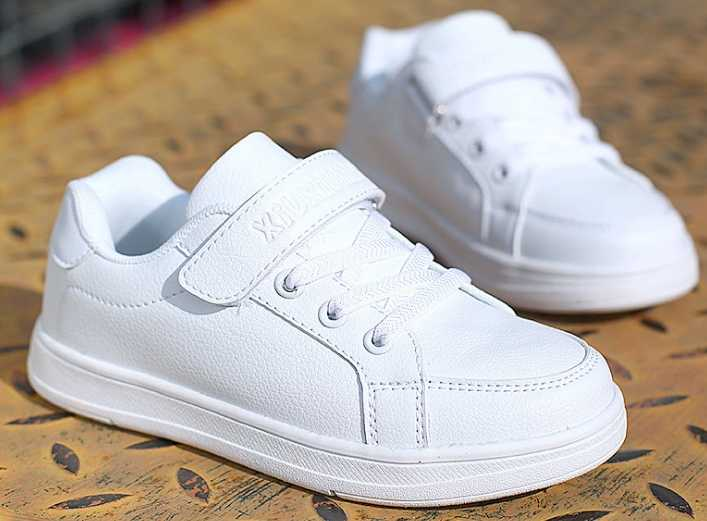 white shoes new boys and girls white