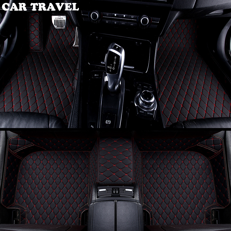 Custom car floor mats for Volkswagen vw passat polo golf tiguan jetta touran touareg bora Sagitar Magotan Teramont car styling