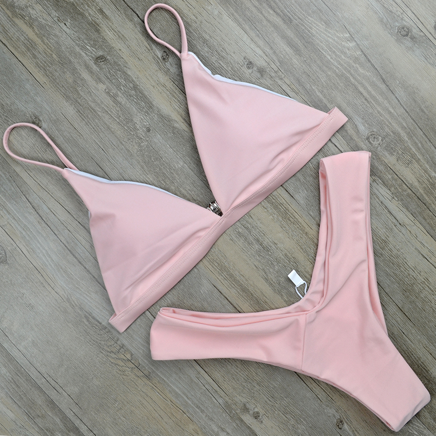 Hot Sexy Bikini 18 bandeau Swimsuit Thong Swimwear Women Bikinis Push Up Red Bikini Set brazilian Biquini Female Bathing Suit 12